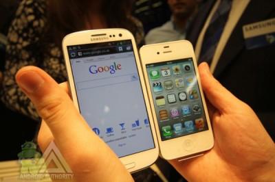 iPhone 5 et Samsung Galaxy S3