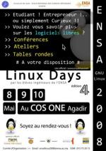 L'affiche des GNU/Linux Days à Agadir, Maroc